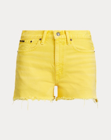 폴로 랄프로렌 Polo Ralph Lauren The Shawe High-Rise Short,Yellow