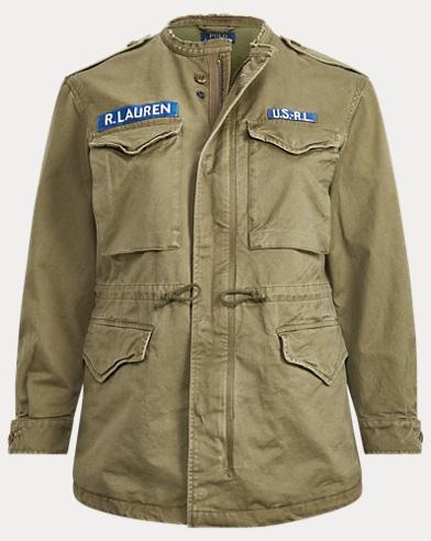 폴로 랄프로렌 Polo Ralph Lauren Twill Military Jacket,Dark Sage