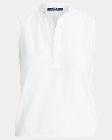 폴로 랄프로렌 Polo Ralph Lauren High-Low Cotton Top,White