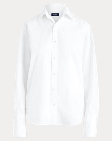 폴로 랄프로렌 Polo Ralph Lauren Broadcloth Button-Down Shirt,White