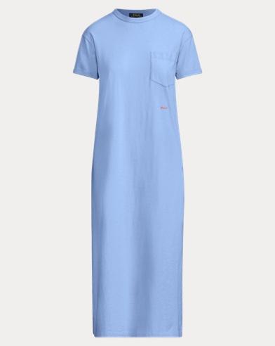 폴로 랄프로렌 우먼 코튼 티셔츠 원피스 - 블루 Polo Ralph Lauren Cotton T-Shirt Dress 479184