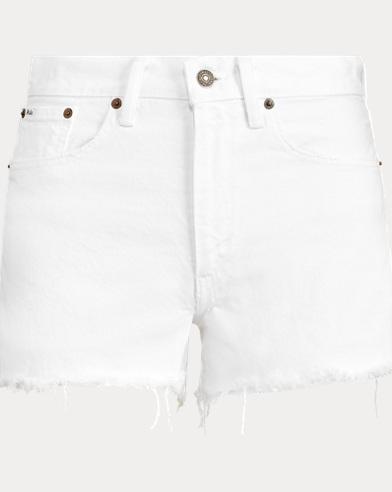 폴로 랄프로렌 보이즈 반바지 Polo Ralph Lauren Shawe High-Rise Short,White