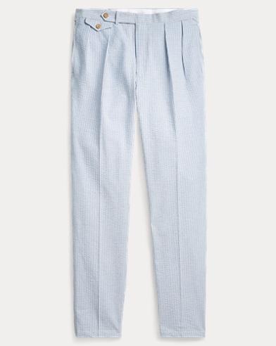 폴로 랄프로렌 Polo Ralph Lauren Seersucker Suit Trouser,Blue And White