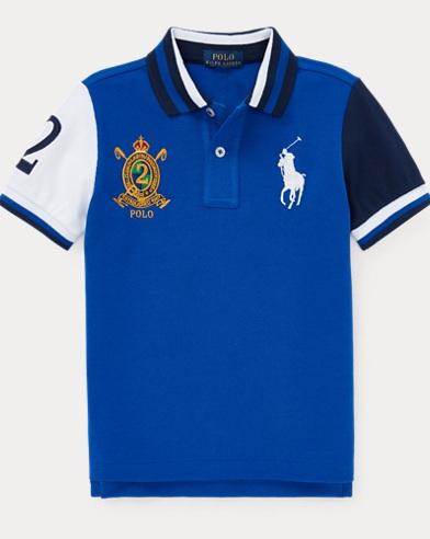 폴로 랄프로렌 남아용 반팔 폴로셔츠  Polo Ralph Lauren Cotton Mesh Polo Shirt,Cruise Royal Multi