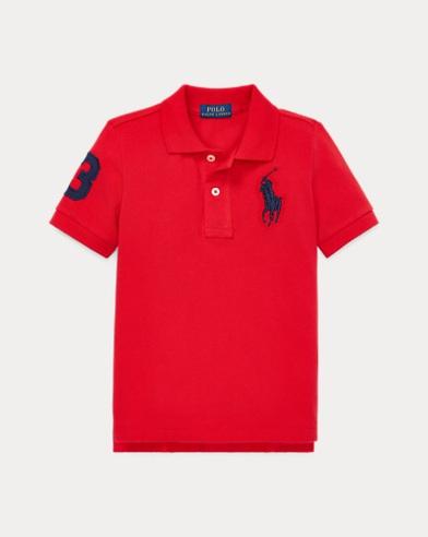 폴로 랄프로렌 남아용 반팔 폴로셔츠 Polo Ralph Lauren Cotton Mesh Polo Shirt,RL 2000 Red