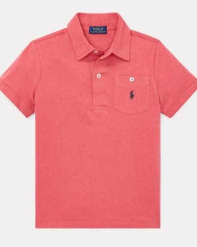 폴로 랄프로렌 남아용 반팔 폴로셔츠 Polo Ralph Lauren Cotton Jersey Polo Shirt,Nantucket Red