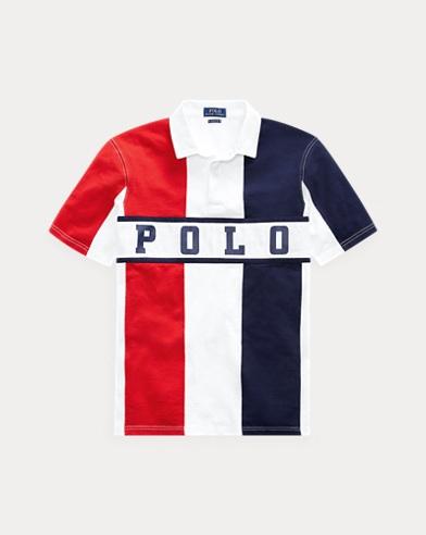 폴로 랄프로렌 Polo Ralph Lauren Classic Fit Cotton Rugby Shirt,French Navy Multi