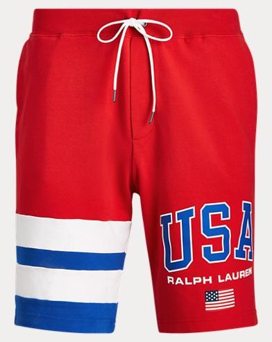 폴로 랄프로렌 Polo Ralph Lauren Cotton Interlock Short,RL 2000 Red Multi