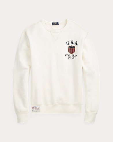 폴로 랄프로렌 Polo Ralph Lauren Fleece Graphic Sweatshirt,Nevis