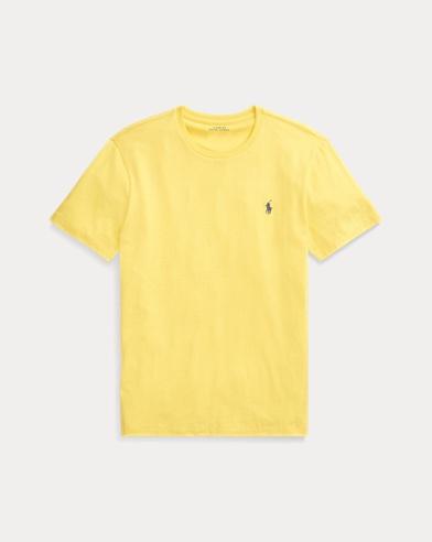 폴로 랄프로렌 Polo Ralph Lauren Custom Slim Fit Cotton Tee,Chrome Yellow
