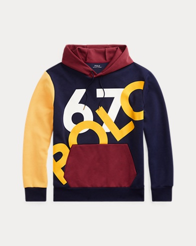 폴로 랄프로렌 Polo Ralph Lauren Double-Knit Graphic Hoodie,Cruise Navy Multi