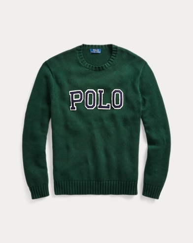 폴로 랄프로렌 Polo Ralph Lauren Polo Cotton Crewneck Sweater,College Green/Navy/White