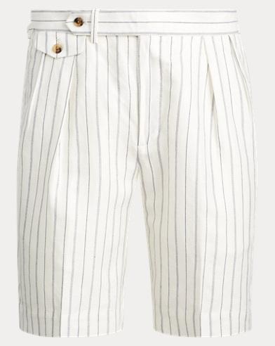 폴로 랄프로렌 Polo Ralph Lauren Classic Fit Pleated Short,Chariot Multi Nevis-navy