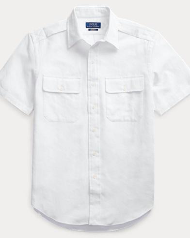 폴로 랄프로렌 Polo Ralph Lauren Custom Fit White Camo Shirt,White Camo