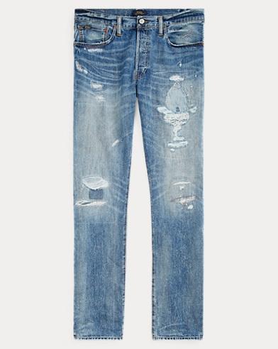 폴로 랄프로렌 Polo Ralph Lauren Varick Slim Straight Jean,Treadwell Lt Repaired
