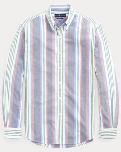 폴로 랄프로렌 Polo Ralph Lauren Classic Fit Striped Shirt,Blue Multi