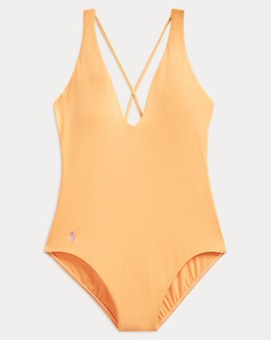 폴로 랄프로렌 Polo Ralph Lauren Crisscross-Strap One-Piece,Washed Orange