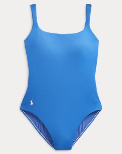 폴로 랄프로렌 Polo Ralph Lauren Scoopback One-Piece Swimsuit,Denim