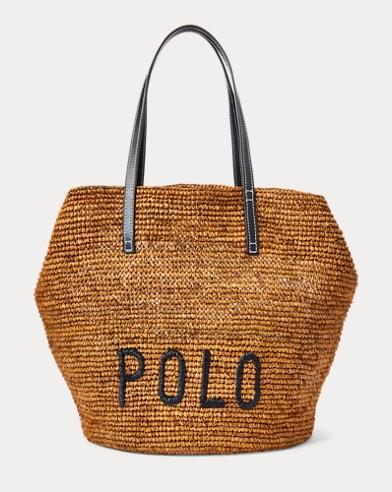 폴로 랄프로렌 라피아 토트백 라지 - 내추럴 Polo Ralph Lauren Polo Raffia Large Tote Bag, 482276