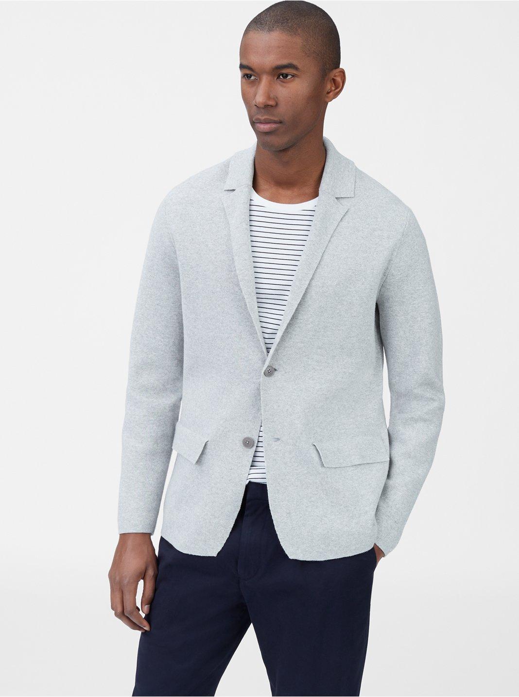 클럽 모나코 Club Monaco Sweater Blazer,Light Grey