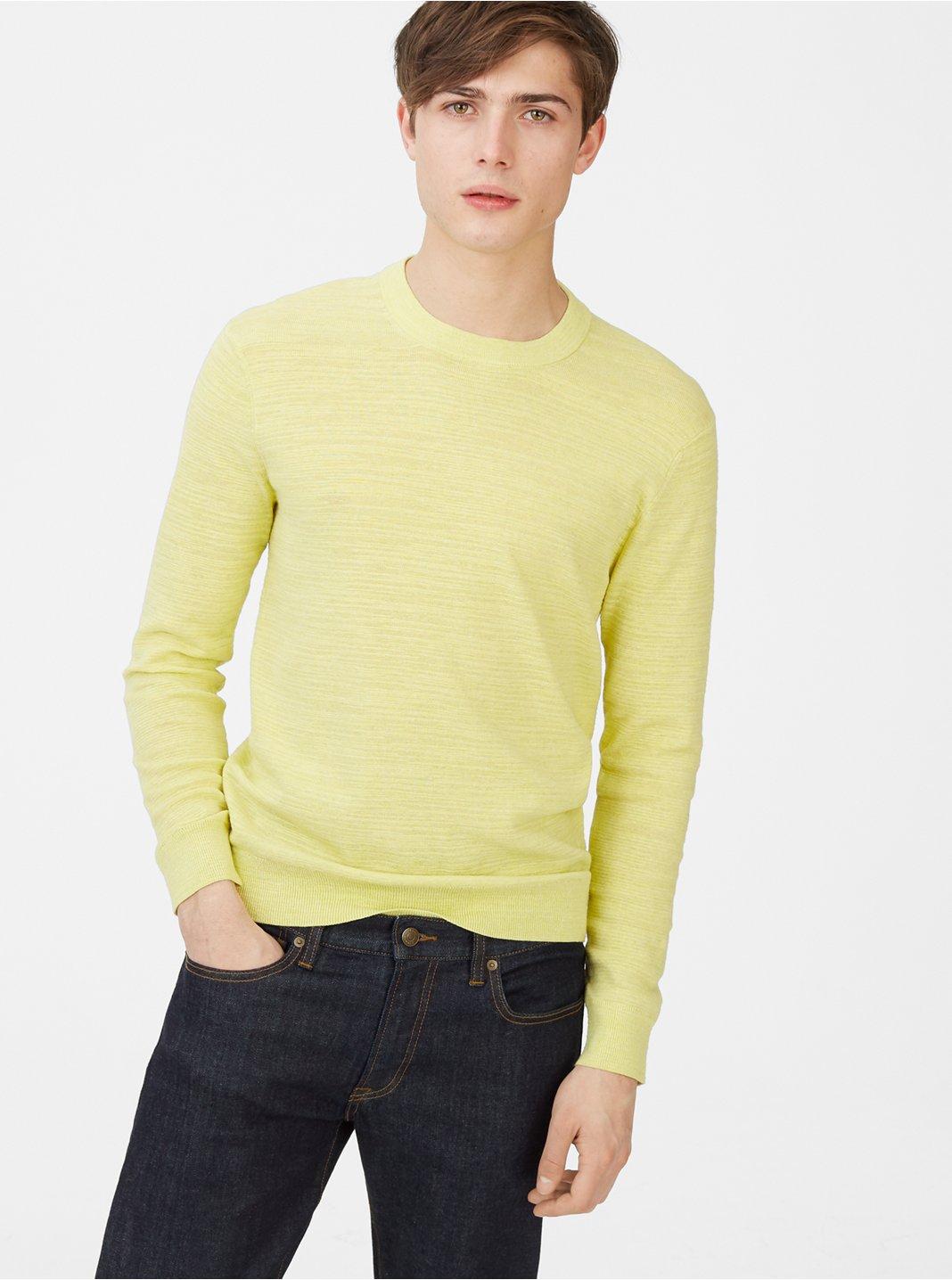 클럽 모나코 Club Monaco Boucle Sweater,Yellow