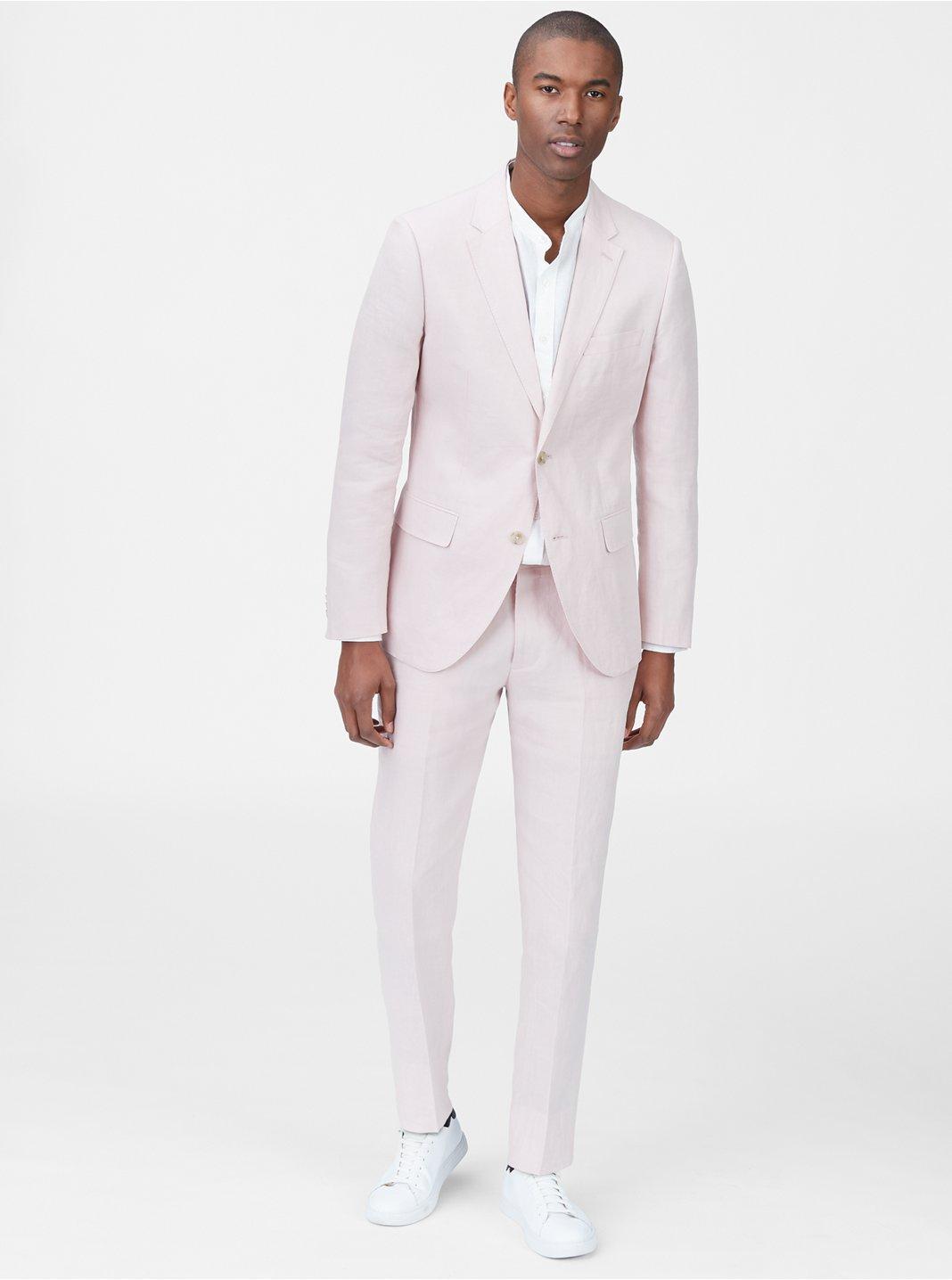 클럽 모나코 맨 Grant 리넨 블레이저 Club Monaco Grant Linen Blazer,Light Pink