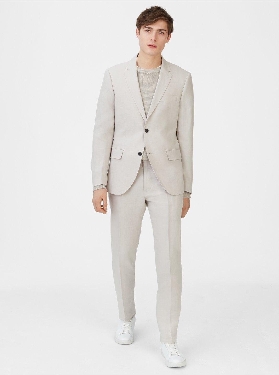 클럽 모나코 맨 Grant 리넨 블레이저 Club Monaco Grant Linen Blazer,Light Grey