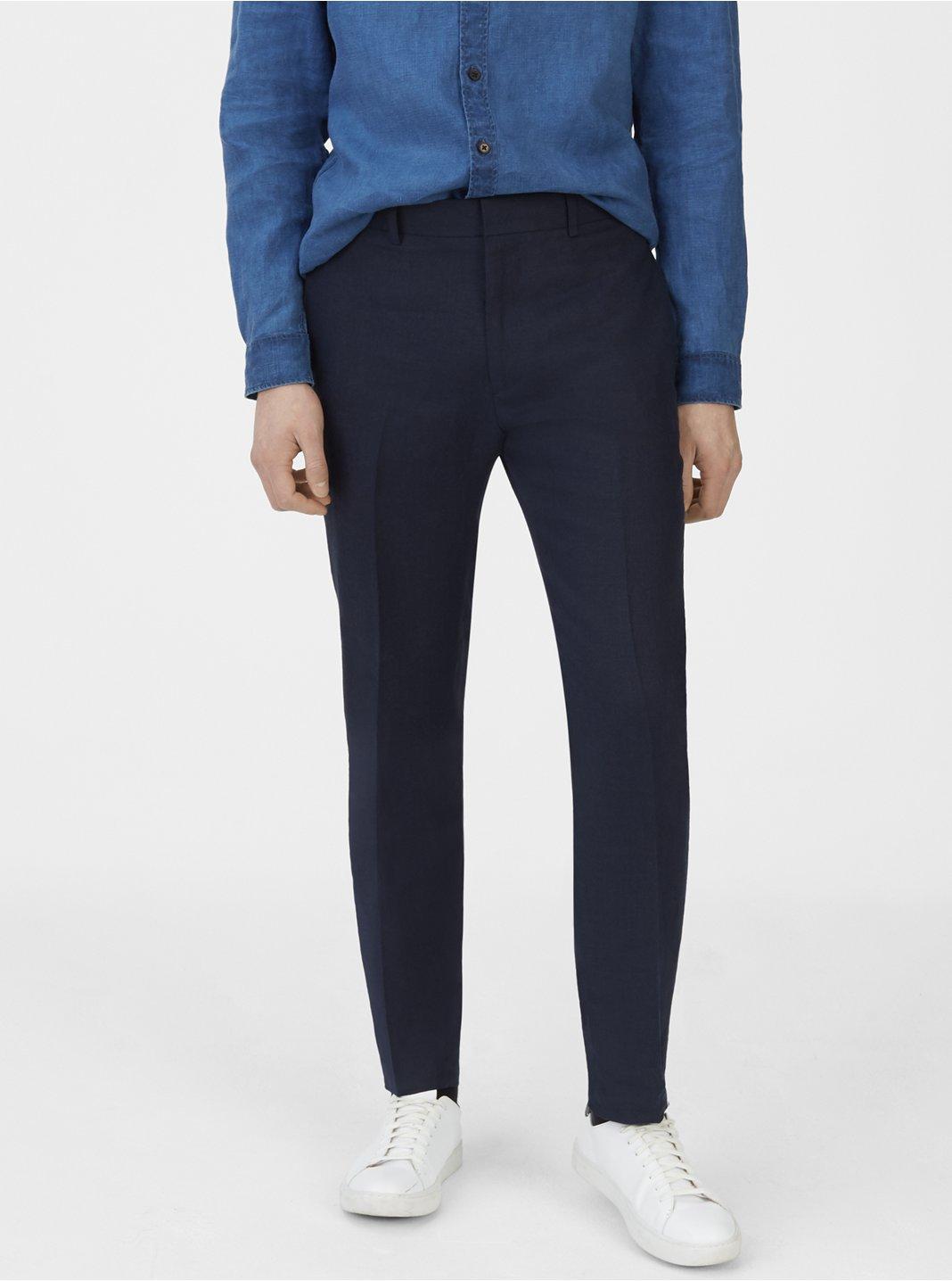 클럽 모나코 맨 Grant 리넨 팬츠 Club Monaco Grant Linen Trouser,Navy