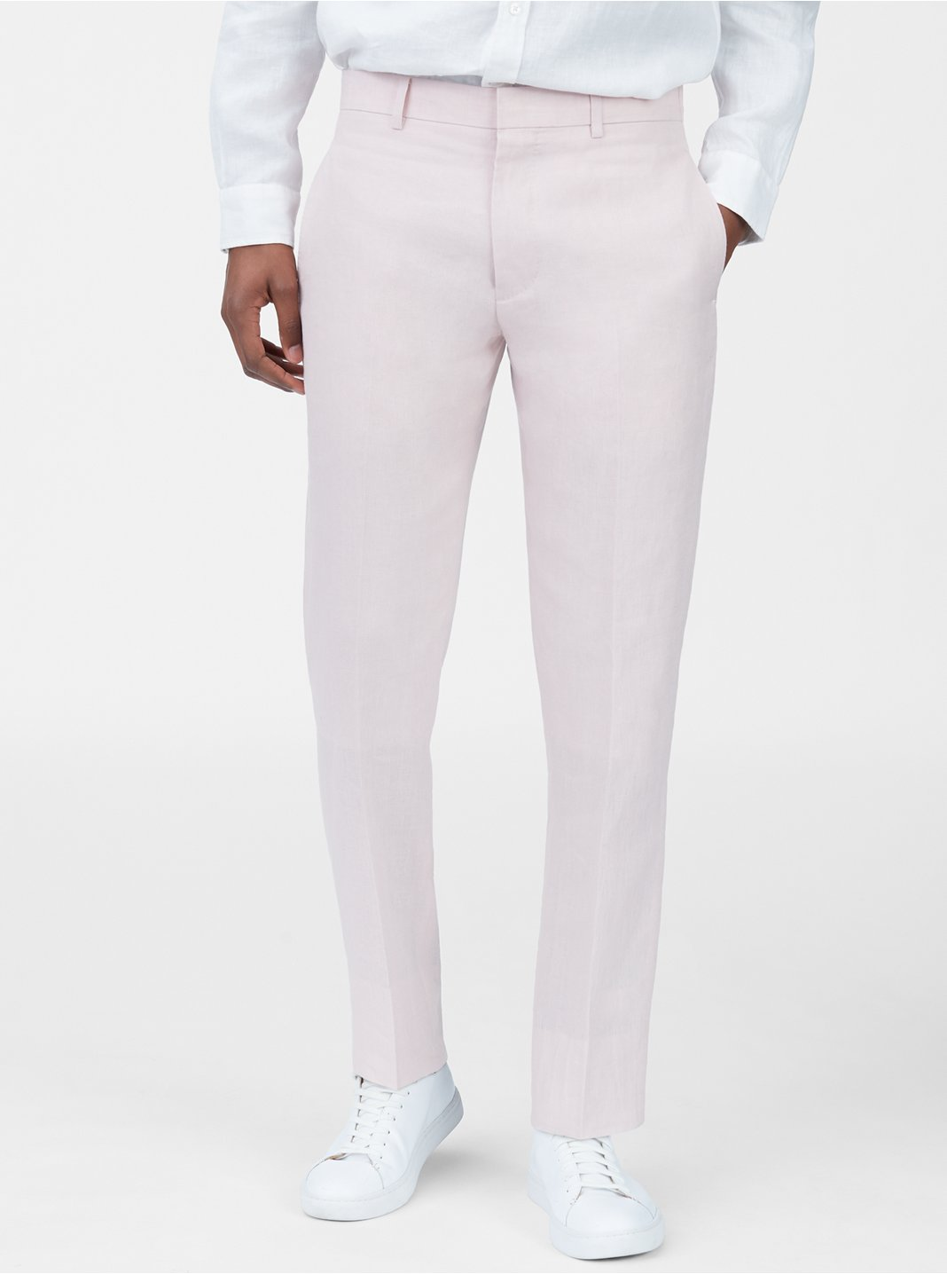 클럽 모나코 맨 Grant 리넨 팬츠 Club Monaco Grant Linen Trouser,Light Pink