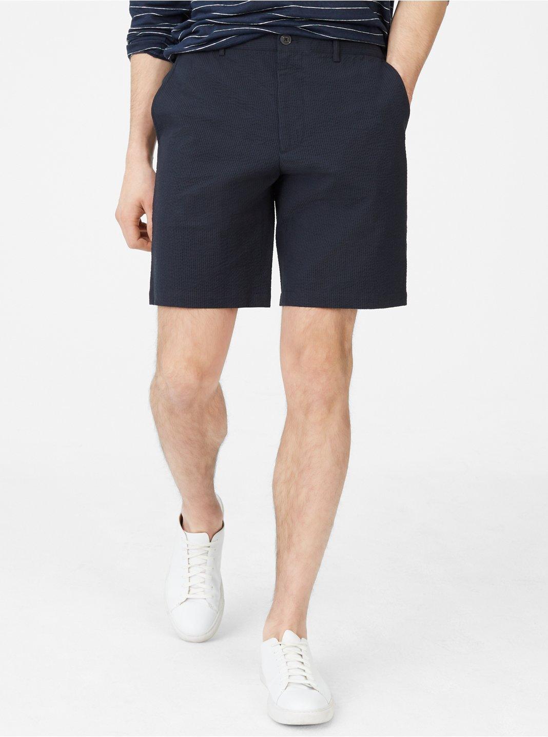 클럽 모나코 맨 Maddox 9 반바지 Club Monaco Maddox 9 Seersucker Short,Navy/Black
