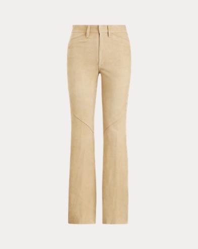 폴로 랄프로렌 바지 Polo Ralph Lauren Lamb-Suede Pant,Vintage Khaki