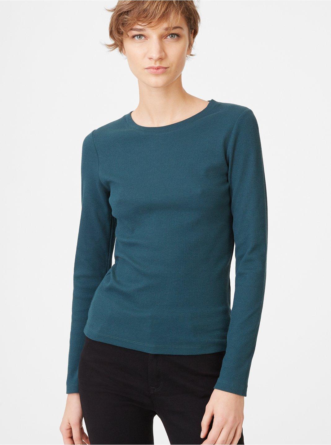 클럽 모나코 Carolena 긴팔 티셔츠 Club Monaco Carolena Top,Dark Emerald