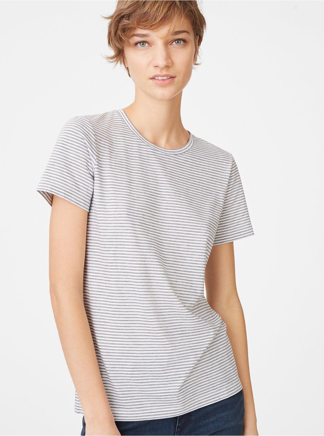 클럽 모나코 Leary 반팔 티셔츠 Club Monaco Leary Tee,Grey/White