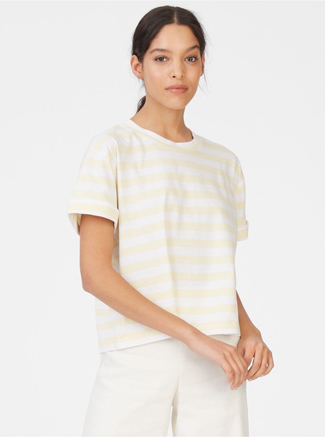 클럽 모나코 Boiselle 반팔 티셔츠 Club Monaco Boiselle Tee,Yellow/White