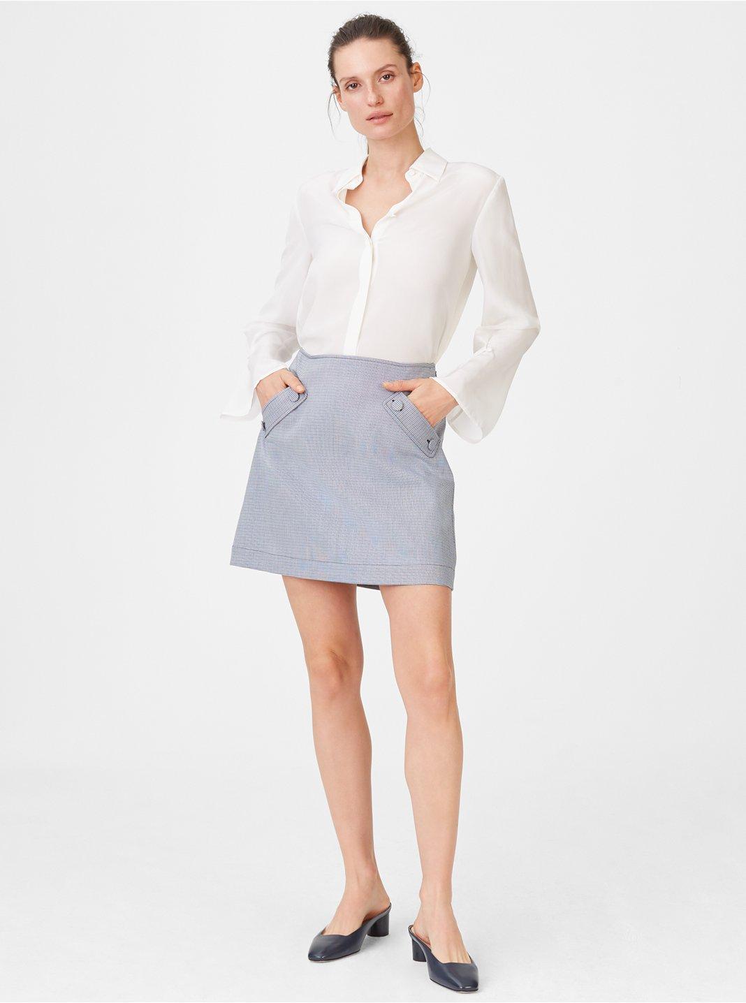 클럽 모나코 Centeeya 스커트 Club Monaco Centeeya Skirt,Blue Multi