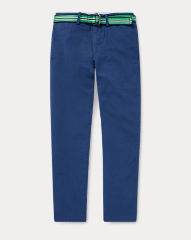 폴로 랄프로렌 Polo Ralph Lauren Belted Stretch Cotton Chino,Annapolis Blue