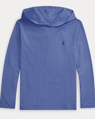 폴로 랄프로렌 Polo Ralph Lauren Cotton Jersey Hooded Tee,Bastille Blue
