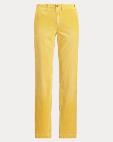 폴로 랄프로렌 바지 Polo Ralph Lauren Cotton Corduroy Straight Pant,Athletic Gold