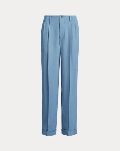 폴로 랄프로렌 바지 Polo Ralph Lauren Fluid Straight-Leg Pant,Channel Blue