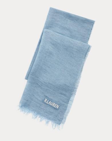폴로 랄프로렌 Polo Ralph Lauren Linen Delave Scarf,Blue