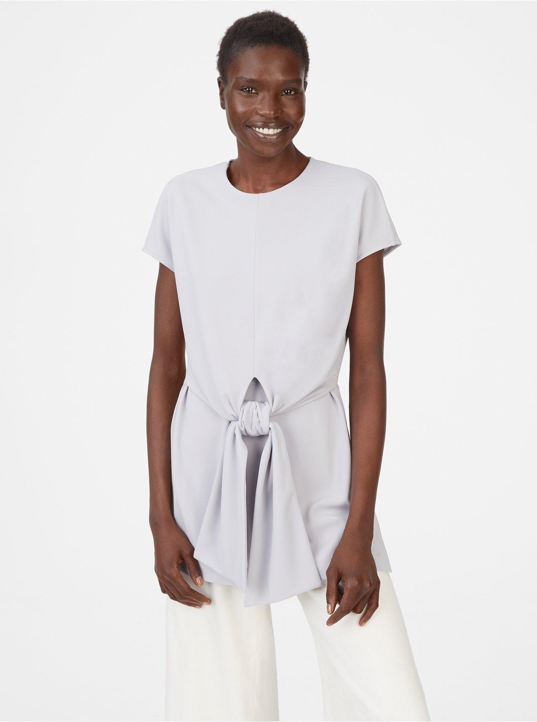 클럽 모나코 Vahlee 반팔 티셔츠  Club Monaco Vahlee Top,Ice Grey