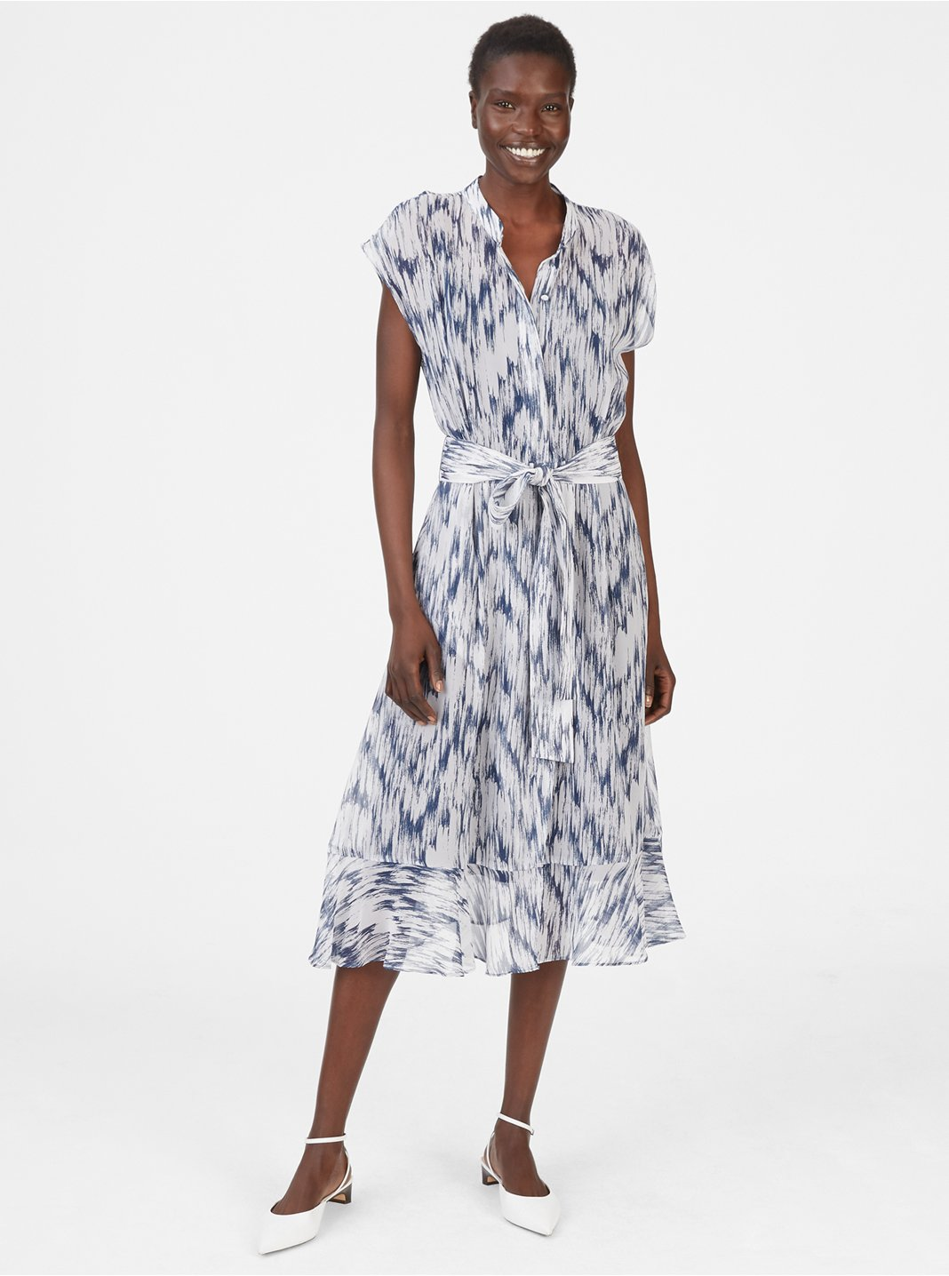 클럽 모나코 Dremah 실크 원피스 (이하늬 착용) Club Monaco Dremah Silk Dress, Navy Multi