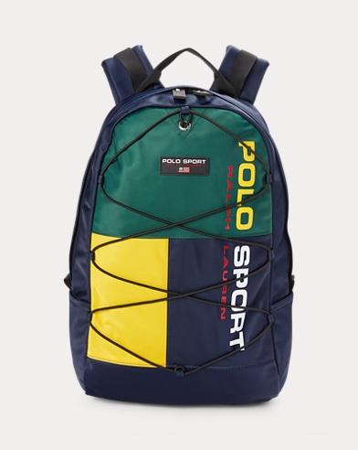 폴로 랄프로렌 스포츠 백팩 Polo Ralph Lauren Nylon Polo Sport Backpack,Navy/Green/Yellow