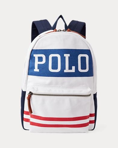 폴로 랄프로렌 Polo Ralph Lauren Polo Canvas Backpack,White