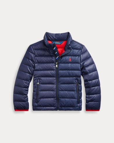 폴로 랄프로렌 보이즈 자켓 Polo Ralph Lauren Packable Quilted Down Jacket,French Navy