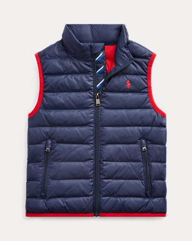 폴로 랄프로렌 보이즈 베스트 Polo Ralph Lauren Packable Quilted Down Vest,French Navy