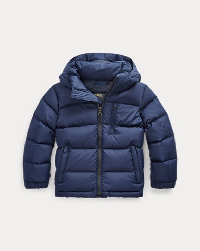 폴로 랄프로렌 남아용 자켓 Polo Ralph Lauren Hooded Down Jacket,French Navy Multi