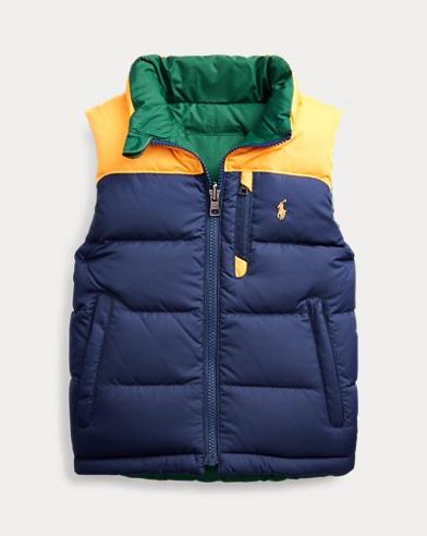 폴로 랄프로렌 남아용 다운 조끼 Polo Ralph Lauren Reversible Down Vest,French Navy Multi