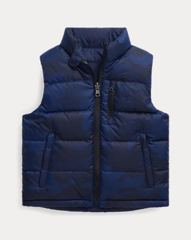폴로 랄프로렌 남아용 다운 조끼 Polo Ralph Lauren Reversible Down Vest,Navy Camo