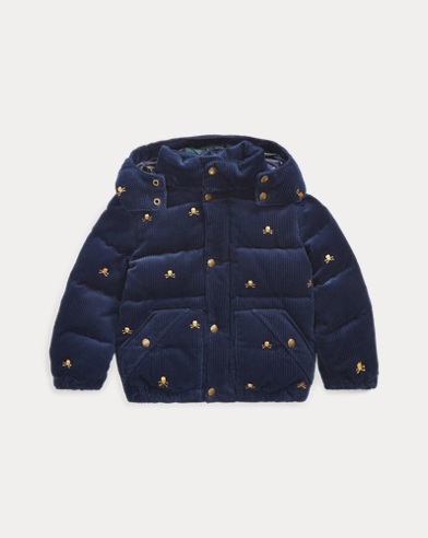 폴로 랄프로렌 Polo Ralph Lauren Corduroy Down Hooded Jacket,French Navy Multi